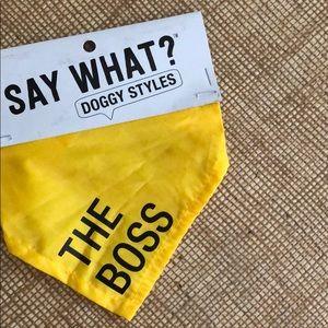 The boss dog bandana